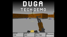 DUGA is a game in development. It uses raycasting to simulate 3D.
