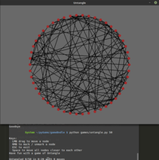 Untangle game with pygame
