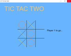 The computer version of the game Tic Tac Toe in a very easy to play format