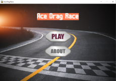 A flat road car racing game. (Drag race)