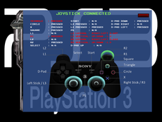 Monitor joystick inputs