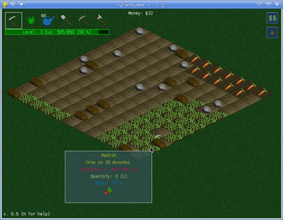 Python Farm game