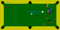 My simple 2d pool game
