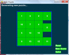 "A classic 15-slide puzzle, featured in ""Making Games with Python & Pygame"""