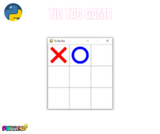 The tradition tic tac toe game made with pygame