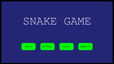 My recreation of Snake with different levels of difficulty and 2 different sizes.