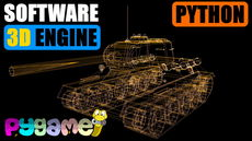 3D Software Renderer (Engine) in Python using Pygame, Numpy, Numba