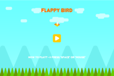 Classic flappy bird game. With exe format.