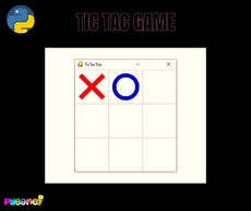 A traditional tic toe game built with python