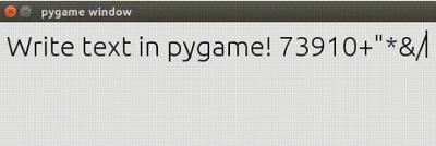 Pygame Text Input