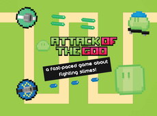 A tower defense game where you defend yourself against enemy slimeys.