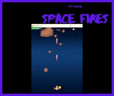 A python based space fire shooting game build with pygame package