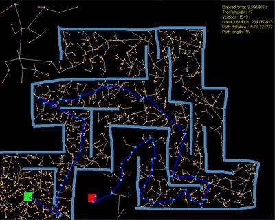 RRT Path finding algorithm - 1 0