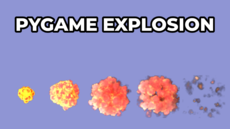 This is a demo of using sprites in PyGame for creating an explosion animation