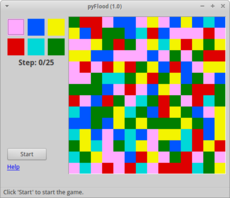Game about logic and colors. Inspired by the game 'FloodIt' available on Google Plus.
