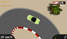 2D Racing game, 3 different cars, fancy graphics and online scoreboard!