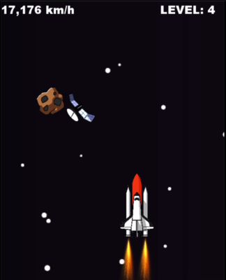 Space Shuttle and Obstacles - 1 0 0
