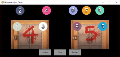 Numbered Door Game