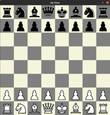 This is a pretty simple chess program which has two modes.  Two player or online multiplayer.