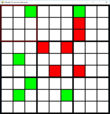 A bigger version of tic tac toe 9x9 with 9 grids.