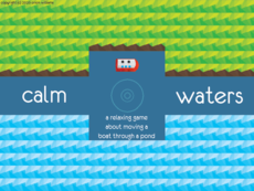 A game about moving a boat around a pond - by throwing rocks!
