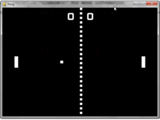 This is a simple clone of the game pong.