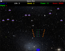 <p>Space max is a type of space invaders</p>