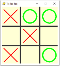 A simple TicTacToe game created in Python using Pygame