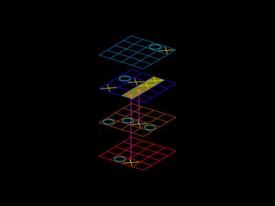 3D Projective Tic Tac Toe