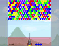 A simple bubble shooter game