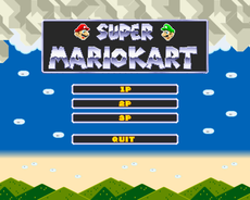 (python 3.6) pygame project, inspired by the original SNES Super Mario Kart