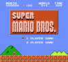 First level of Super Mario Bros.
